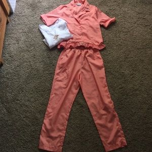 Vintage peach pink lounge set